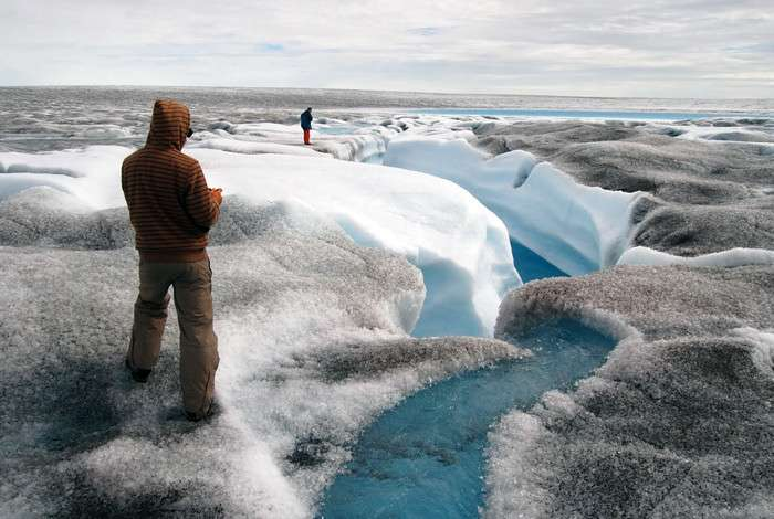 Leaky plumbing impedes Greenland Ice Sheet flow