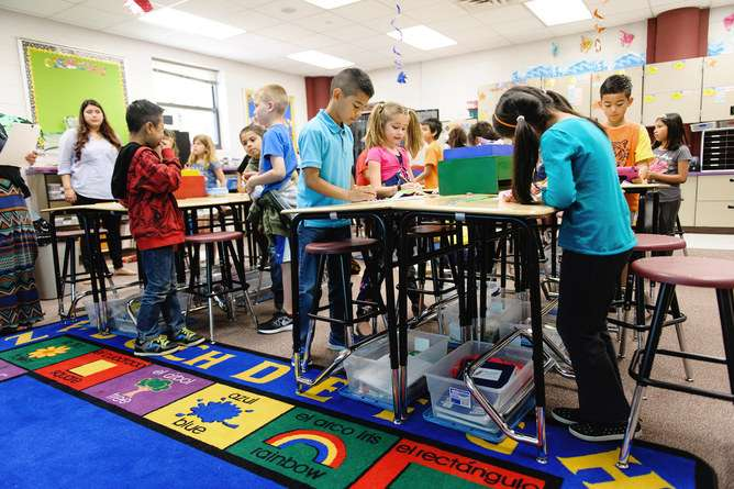 Letting kids stand more in the classroom could help them learn