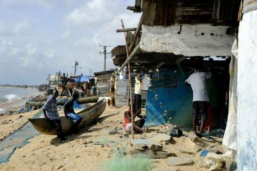 Liberia's West Point is being swallowed by the sea, tearing the heart out of the neighbourhood and leaving thousands displaced