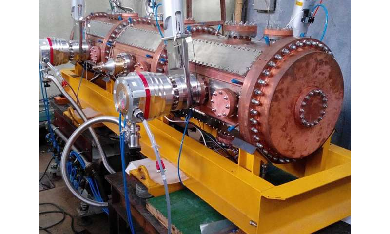 Linear deutron and light ion accelerator worked out in MEPhI and successfully tested in Dubna