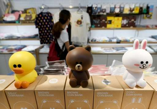 Line's stable of stickers includes the duck Sally, a sad-faced bear called Brown and Cony the rabbit
