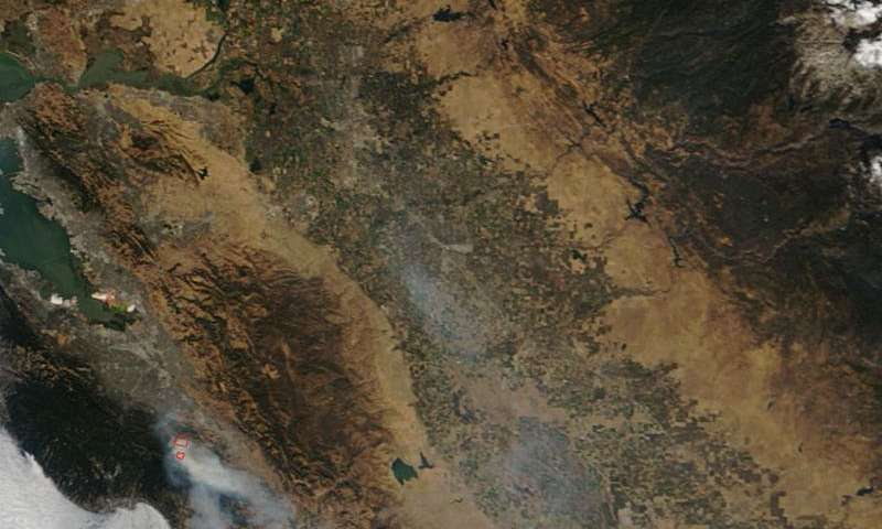 Loma Fire in California Grows