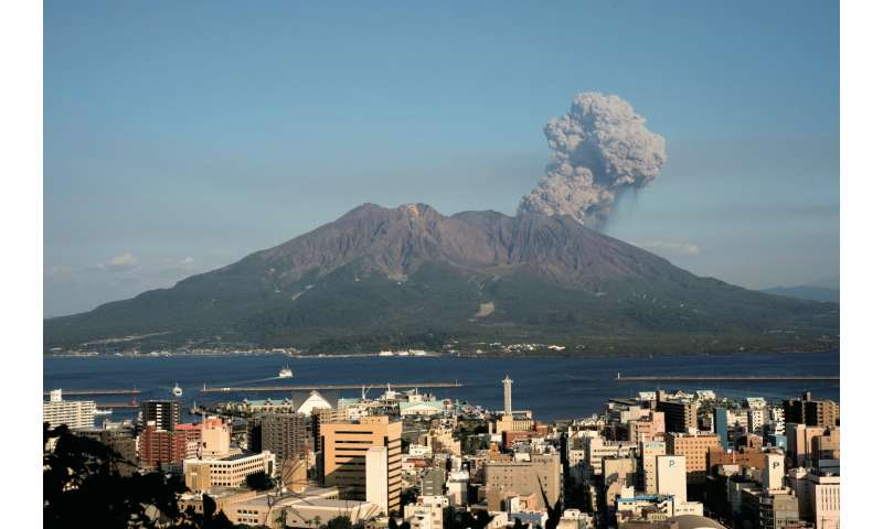 Magma accumulation highlights growing threat from Japanese volcano