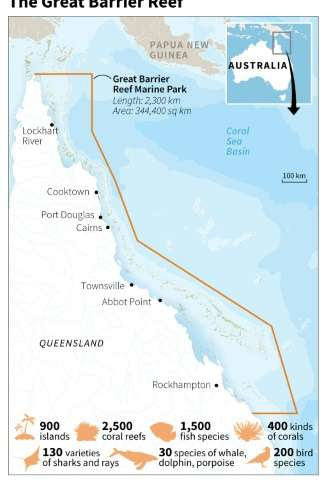 Map and factfile on Australia's Great Barrier Reef