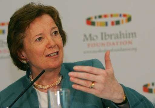 Mary Robinson previously served as the UN High Commissioner for Human Rights and as the UN secretary general's special envoy for