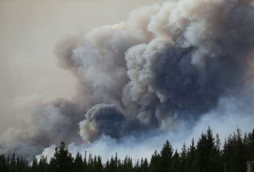 "Massive forest fires in western Canada have ""injected an enormous quantity of dust into the atmosphere,"" which has now"