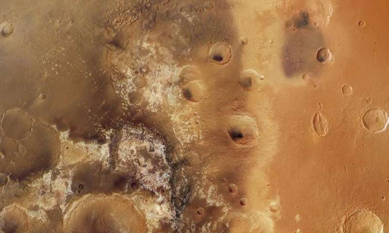 Mawrth Vallis Martian mosaic
