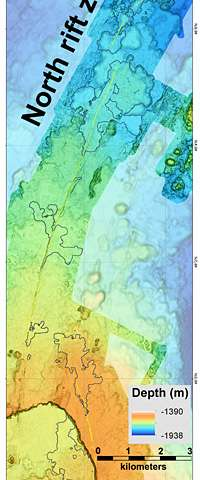 MBARI's seafloor maps provide new information about 2015 eruption at Axial Seamount