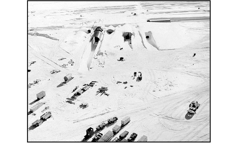 Melting ice sheet could release frozen Cold War-era waste