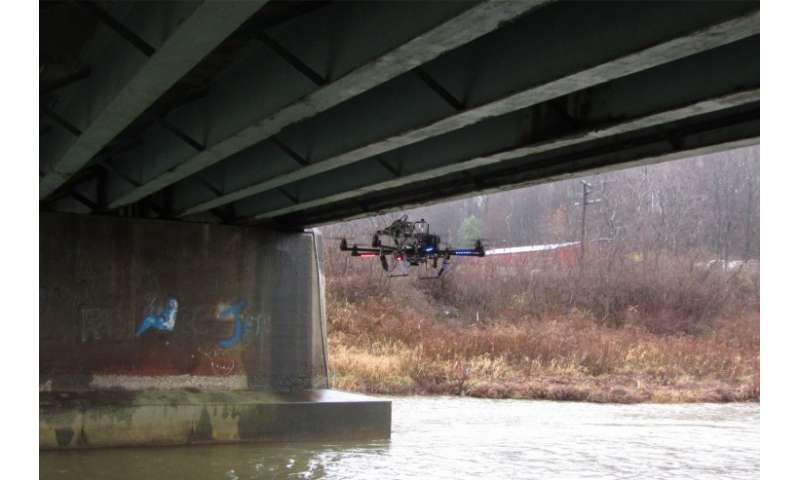Miniature flying robots automatically inspect, analyze, and assess damage to infrastructure