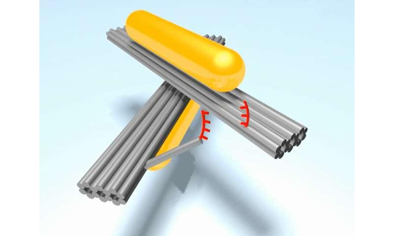 Nano-hinge – lubricated by light