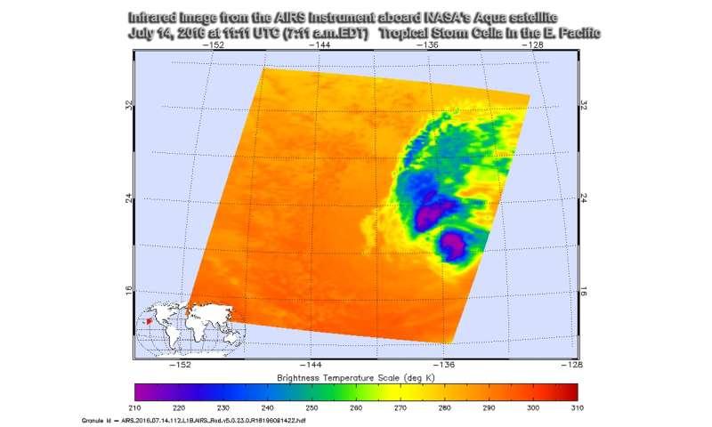 NASA finds wind shear affecting Tropical Storm Celia