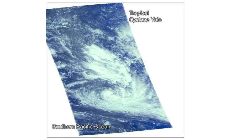 NASA's Aqua satellite catches the birth of Tropical Cyclone Yalo