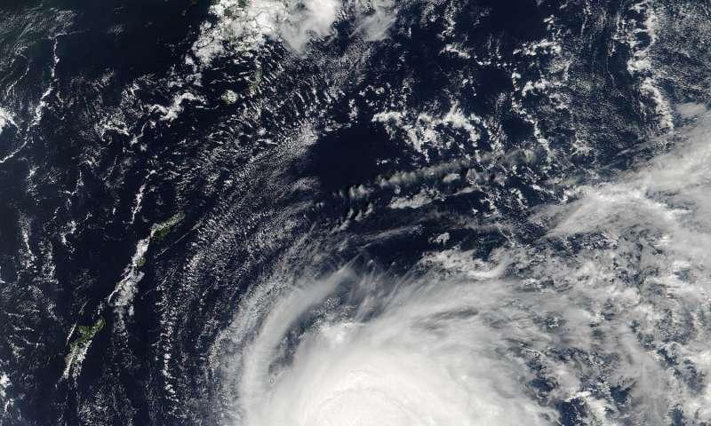 NASA sees Lionrock strengthen into a typhoon