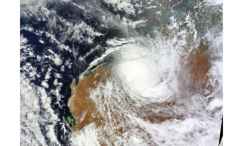 NASA sees the end of Tropical Cyclone Stan over Western Australia
