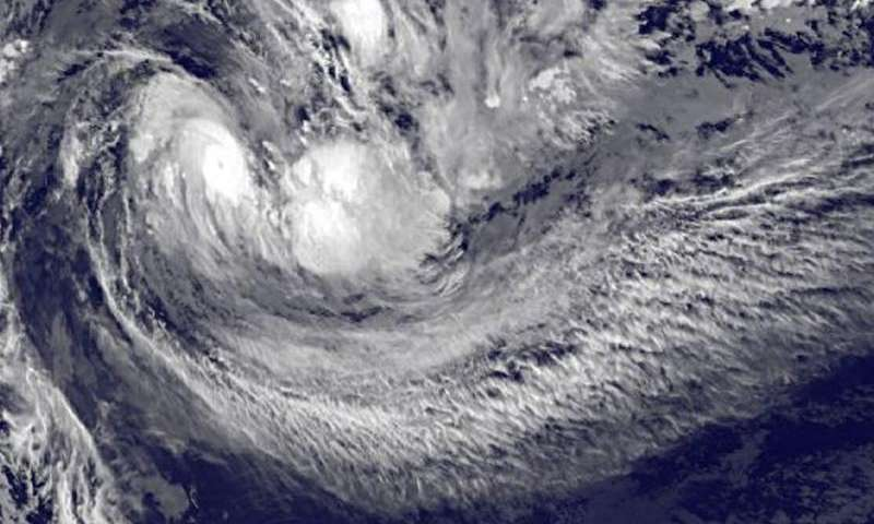 NASA sees Tropical Cyclone Ula's eye and rainfall