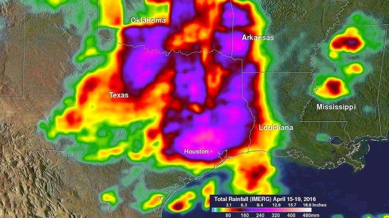 NASA's GPM looks at Texas heavy rainfall