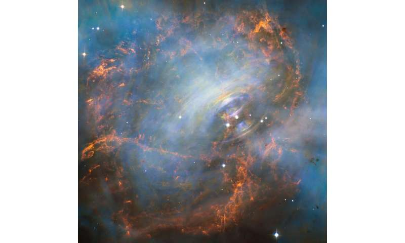 NASA's Hubble captures the beating heart of the crab nebula