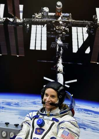 NASA's Kate Rubins, pictured, will be the first woman aboard the ISS since Italian Samantha Cristoforetti returned to earth with