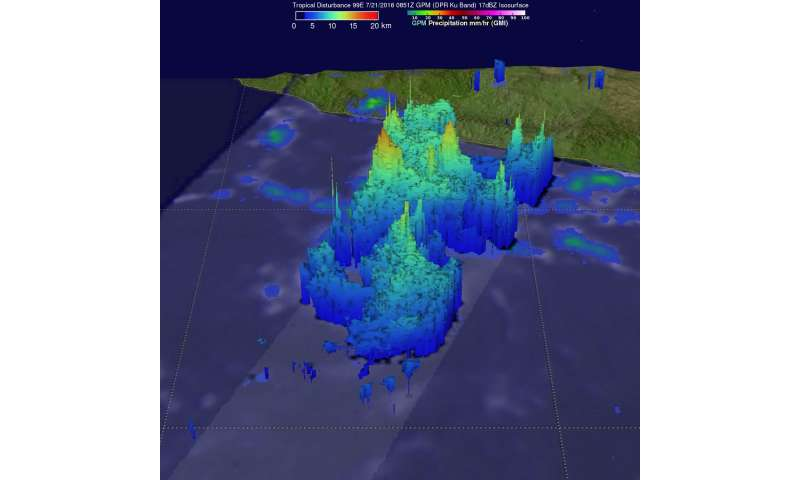 """NASA Spots """"Hot Towers"""" in Intensifying Tropical Storm Frank"""