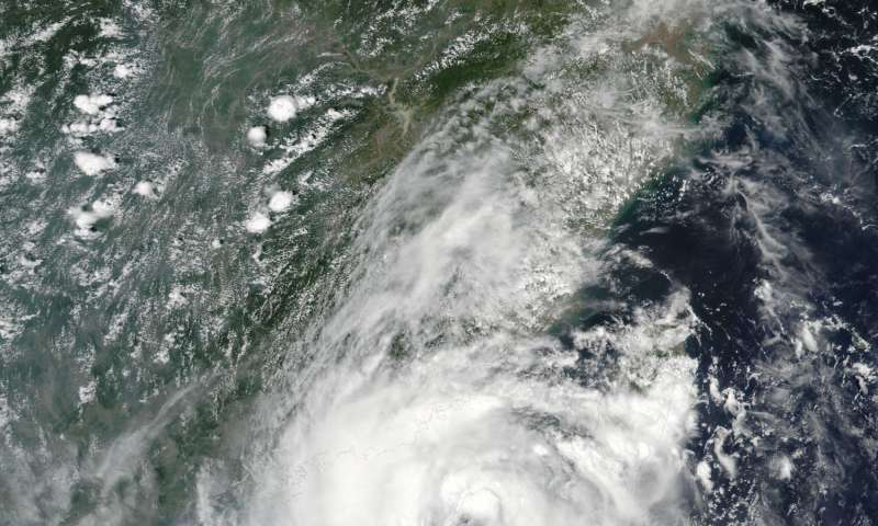 NASA Spots Typhoon Nida's rainfall, approach to China