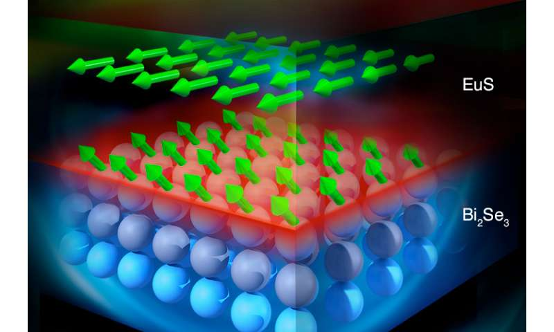 Neutrons tap into magnetism in topological insulators at high temperatures