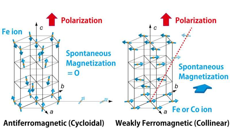 New material with ferroelectricity and ferromagnetism may lead to better computer memory