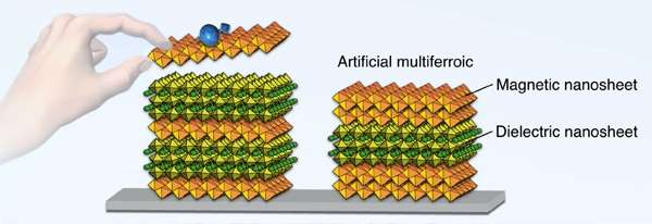 New multiferroic materials from building blocks
