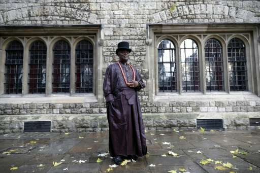 Nigerian tribal king Emere Godwin Bebe Okpabi has flown to London for a High Court hearing in which lawyers for more than 40,000