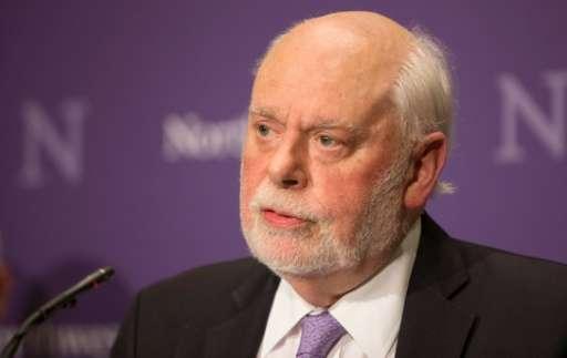 Nobel Peace Price winner in Chemistry Professor Fraser Stoddart speaks at Northwestern University on October 5, 2016 in Evanston