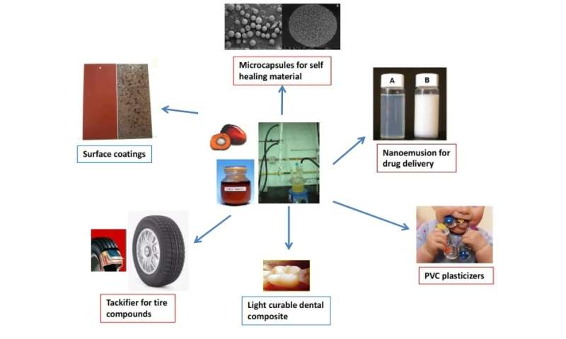 Novel polymeric materials from palm oil derivatives