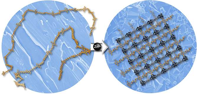 "Novel porous materials made from flexible ""spaghetti-like"" molecules"