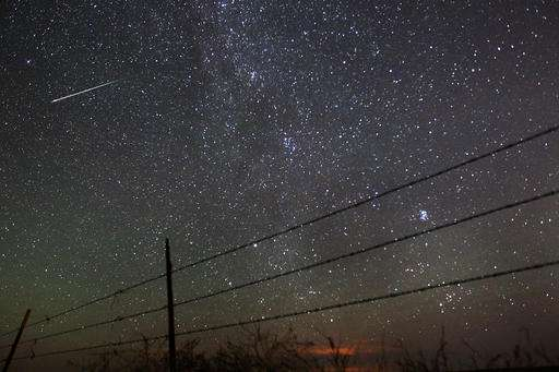 Outburst of shooting stars up to 200 mph - meteors per hour