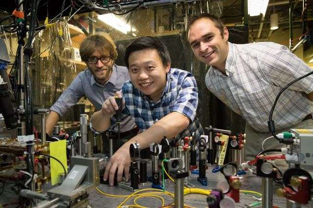 Physicists use multicolored laser light to study atoms critical to medicine