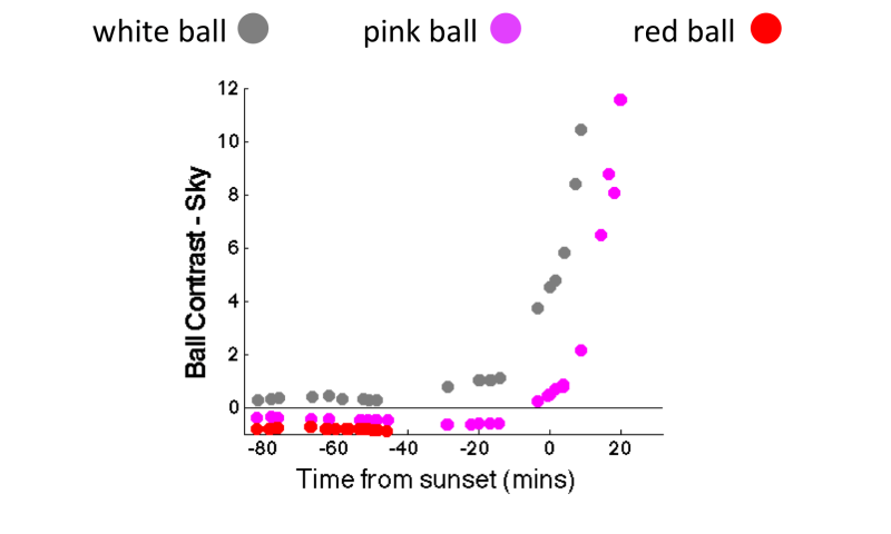 Pink balls in day-night cricket could challenge players at sunset