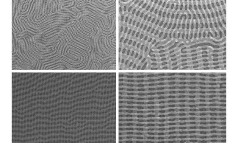 Polymer nanowires that assemble in perpendicular layers could offer route to tinier chip components