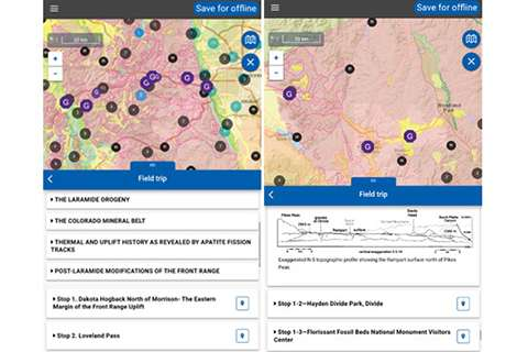 Popular geosciences free mobile app adds 53 new field trip guides with 400 stops