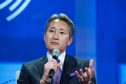 President and CEO of Sony, Kazuo Hirai, participates in a panel discussion during the annual Clinton Global Initiative, in New Y