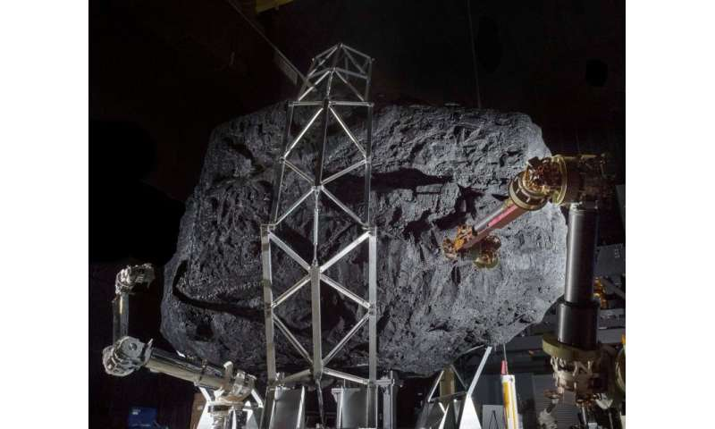 Prototype capture system, mock asteroid help simulate mission sequence