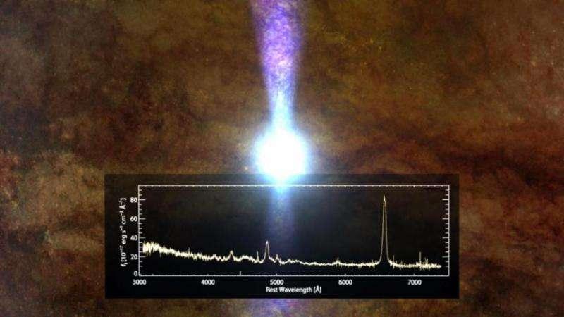 Quiet quasar has apparently eaten its fill