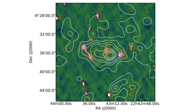 Radio halo discovered in a massive merging galaxy cluster