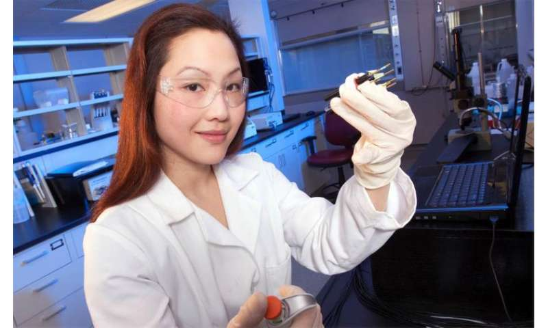 Researcher developing hand-held gold sensor
