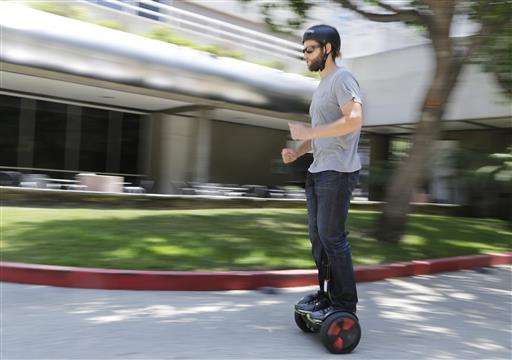 Riding Segway's hoverboard is like skiing on LA's streets