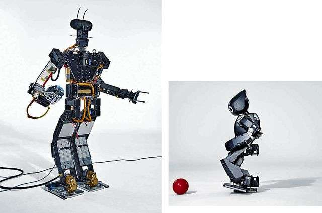 Robots can function on a soccer field and a leaking nuclear power plant