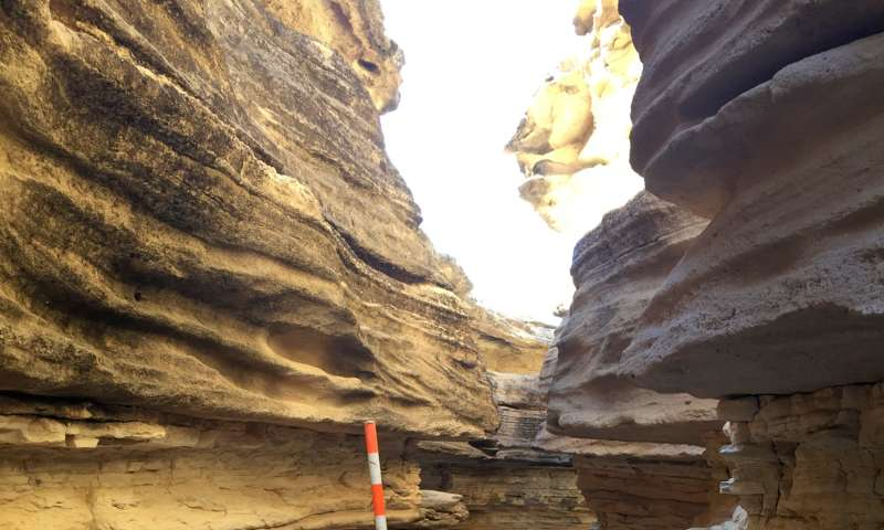 Rock layers preserve record of ancient sea tides near Blythe, California