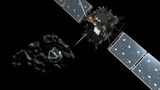 Rosetta, along with its space probe Philae, is being used to carry out a detailed study of comet 67P/Churyumov-Gerasimenko