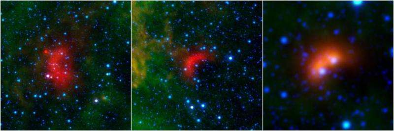 Runaway stars leave infrared waves in space