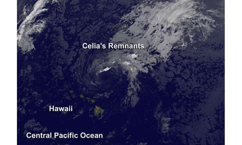 Satellite spots remnants of Ex-Tropical Cyclone Celia