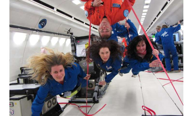 Second research flight into zero gravity