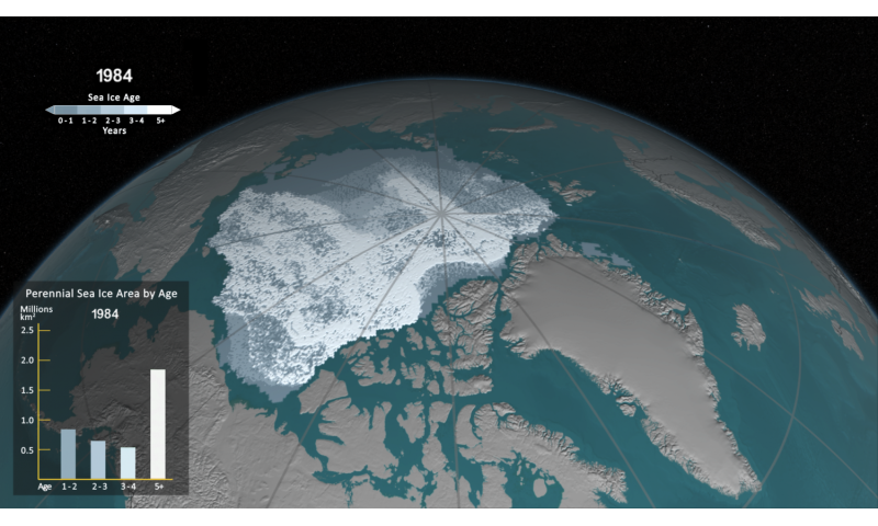 See how Arctic sea ice is losing its bulwark against warming summers